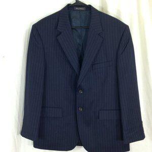 Mens Chaps Navy Pinstripe Suit Jacket Blazer 42S